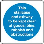 Mandatory Safety Sign - This Staircase 160